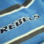 Rebels on knitted cap