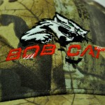 Bob-Cat logo on baseball cap