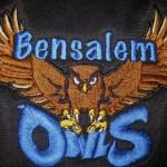 Bensalem Owls on jacket close-up