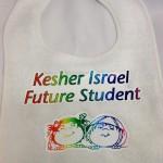 Kesher Israel heat press on bib