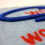 WCR puff embroidery close-up
