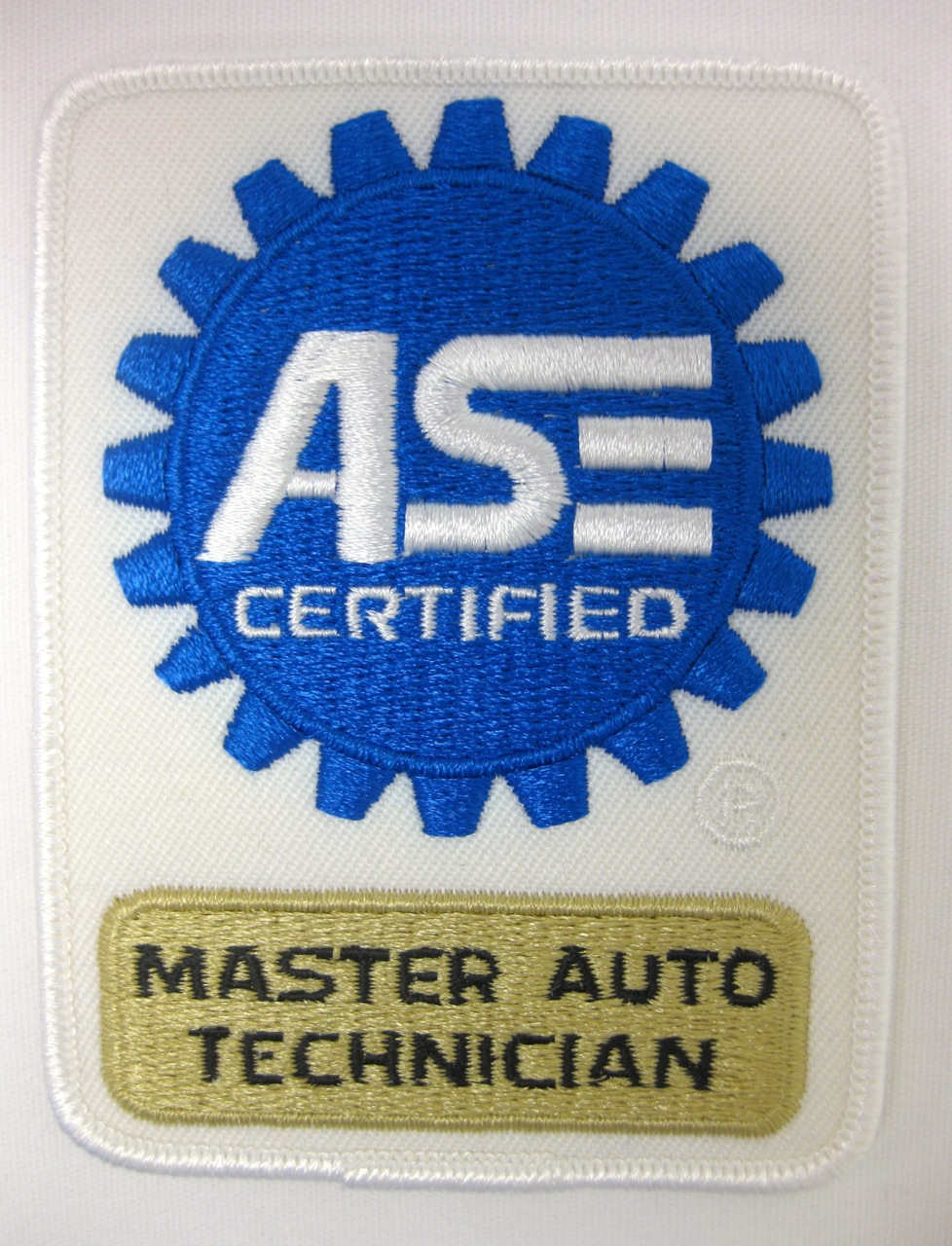 specialty applications ase patch touch shirts certified