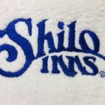 Shilo Inns on sample towel
