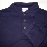 Navy Anvil long sleeve Jersey Knit= 3S, 3M, 3L, 3XL, 3XXL; $2 each