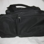 Black Tennis Duffel with pre-existing embroidery on opposite side, $5 each - 18 available